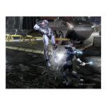 Captura de pantalla: Cyborg contra Nightwing 3 Tarjetas Postales