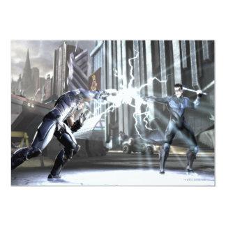 Captura de pantalla: Cyborg contra Nightwing 4 Invitación 12,7 X 17,8 Cm