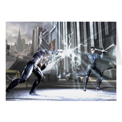 Captura de pantalla: Cyborg contra Nightwing 4 Tarjetón