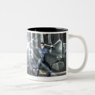 Captura de pantalla: Cyborg contra Nightwing 4 Taza De Café