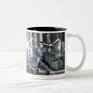 Captura de pantalla: Cyborg contra Nightwing 4 Taza De Dos Tonos