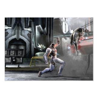 Captura de pantalla: Cyborg contra Nightwing Invitación 12,7 X 17,8 Cm
