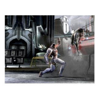 Captura de pantalla: Cyborg contra Nightwing Postales