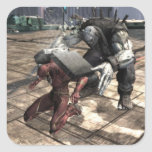 Captura de pantalla: Flash contra Grundy 2 Pegatinas Cuadradas Personalizadas