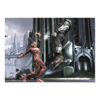 Captura de pantalla: Flash contra Grundy 3 Invitación 12,7 X 17,8 Cm