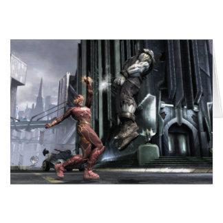 Captura de pantalla: Flash contra Grundy 3 Tarjeta De Felicitación