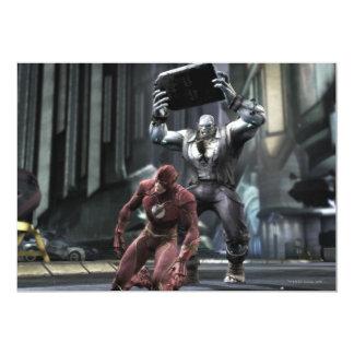 Captura de pantalla: Flash contra Grundy Invitación 12,7 X 17,8 Cm