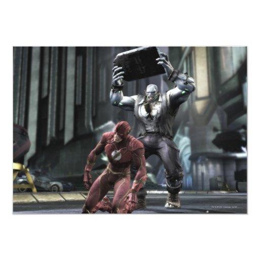 "Captura de pantalla: Flash contra Grundy Invitación 5"" X 7"""