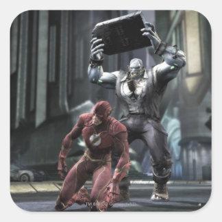 Captura de pantalla: Flash contra Grundy Pegatina Cuadrada