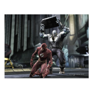 Captura de pantalla: Flash contra Grundy Tarjeta Postal