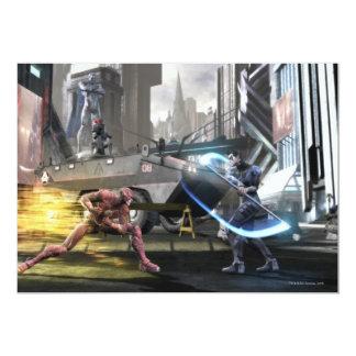 Captura de pantalla: Flash contra Nightwing Invitación 12,7 X 17,8 Cm