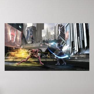 Captura de pantalla: Flash contra Nightwing Póster