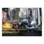Captura de pantalla: Flash contra Nightwing Tarjeta De Felicitación