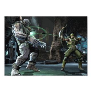 Captura de pantalla: Grundy contra flecha verde Invitación 12,7 X 17,8 Cm