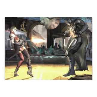 Captura de pantalla: Harley contra Batman 2 Invitación 12,7 X 17,8 Cm