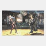 Captura de pantalla: Harley contra Batman 2 Pegatina Rectangular