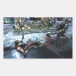 Captura de pantalla: Harley contra Batman Pegatina Rectangular