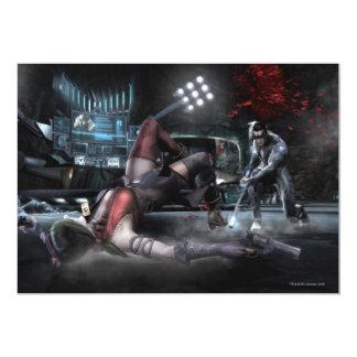 Captura de pantalla: Harley contra Nightwing 2 Invitación 12,7 X 17,8 Cm