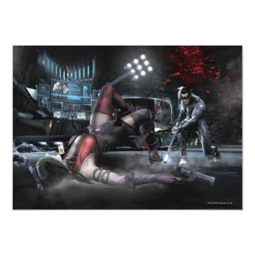 Captura de pantalla: Harley contra Nightwing 2 Comunicado Personal