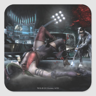 Captura de pantalla: Harley contra Nightwing 2 Pegatina Cuadrada