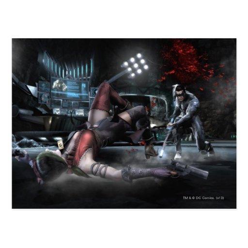 Captura de pantalla: Harley contra Nightwing 2 Tarjetas Postales