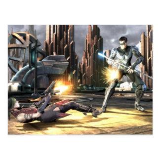 Captura de pantalla: Harley contra Nightwing Postales