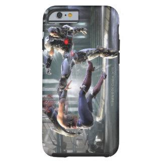 Captura de pantalla Mujer Maravilla contra Cyborg Funda De iPhone 6 Shell
