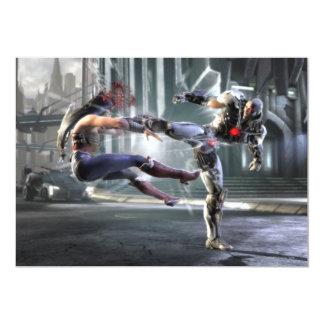 Captura de pantalla: Mujer Maravilla contra Cyborg Invitación 12,7 X 17,8 Cm