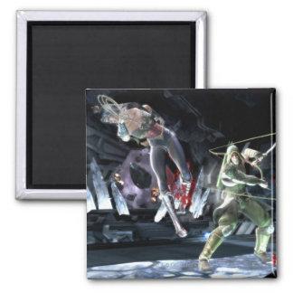 Captura de pantalla: Mujer Maravilla contra flecha Imán De Nevera