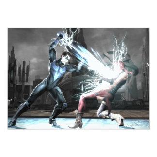 Captura de pantalla: Nightwing contra harley Invitación 12,7 X 17,8 Cm