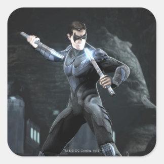 Captura de pantalla: Nightwing Pegatina Cuadrada