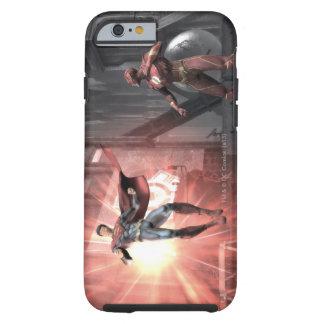 Captura de pantalla Superhombre contra flash Funda De iPhone 6 Shell