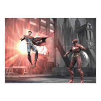 Captura de pantalla: Superhombre contra flash Invitación 12,7 X 17,8 Cm