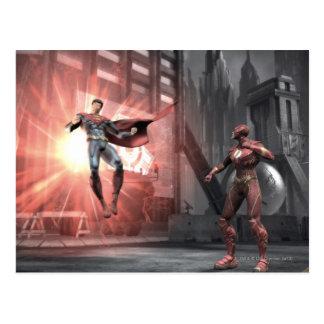 Captura de pantalla: Superhombre contra flash Tarjeta Postal
