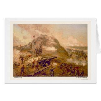 Captura del fuerte Fisher por L. Prang & Company Tarjeta De Felicitación