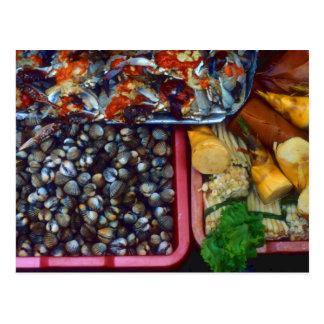 Captura del mercado Taipei Taiwán de los mariscos Tarjetas Postales