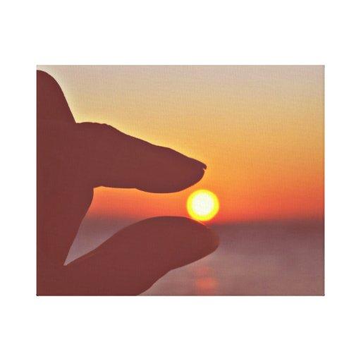 Captura del Sun Impresiones De Lienzo