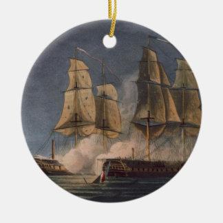 Captura del Thetis por amatista del HMS, 10mo Adorno Redondo De Cerámica
