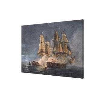 Captura del Thetis por amatista del HMS, 10mo Nove Lona Estirada Galerías