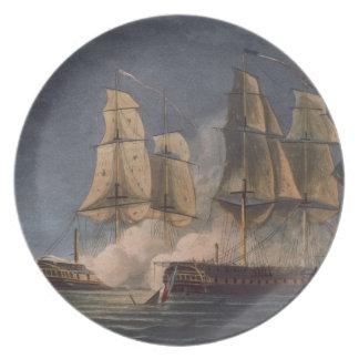 Captura del Thetis por amatista del HMS, 10mo Nove Platos Para Fiestas