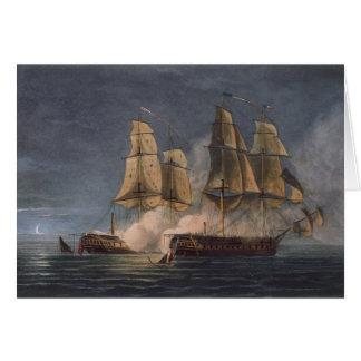 Captura del Thetis por amatista del HMS, 10mo Nove Tarjeta De Felicitación