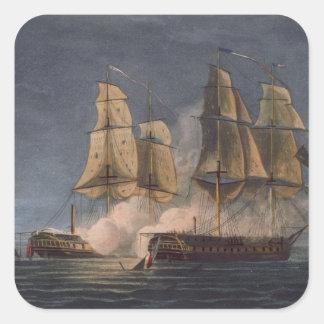 Captura del Thetis por amatista del HMS, 10mo Pegatinas Cuadradases