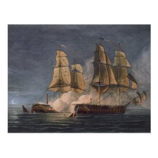 Captura del Thetis por amatista del HMS, 10mo Postales