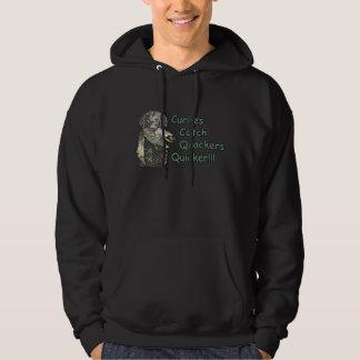 ¡Captura revestida rizada Quackers de los perros Suéter Con Capucha