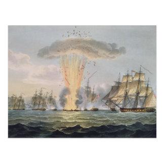 Captura y destrucción de cuatro fragatas tarjetas postales