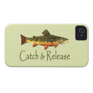 Captura y lanzamiento de pesca de la trucha carcasa para iPhone 4 de Case-Mate