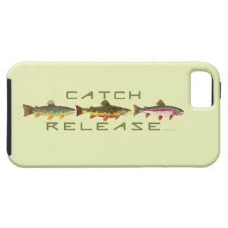 Captura y lanzamiento de pesca de la trucha iPhone 5 Case-Mate fundas