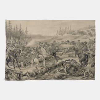 Captura y muerte sentada Bull del 15 de diciembre Toalla