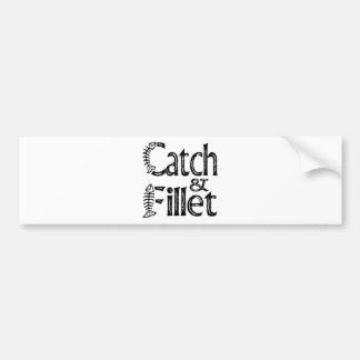 Captura y prendedero pegatina de parachoque
