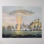 Capture and Destruction of Four Spanish Frigates, Print